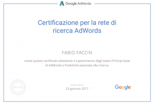 Google Partners - Certificazione Google AdWords